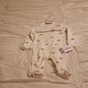 Carter's Baby Elephant One Piece and Cap Set